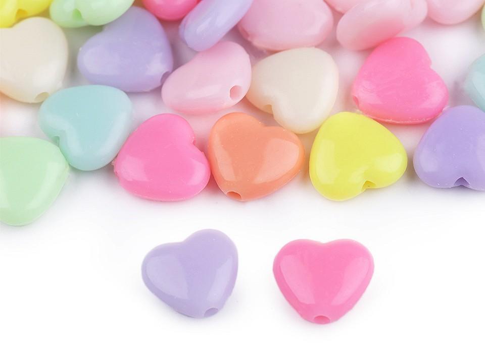 Textillux.sk - produkt Plastové koráliky hviezda, srdce, kvet 20 g