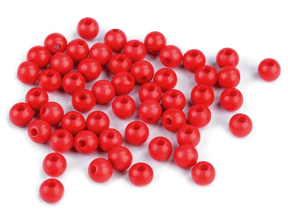 Textillux.sk - produkt Plastové korálky Color Ø6 mm - 5 (S009) červená