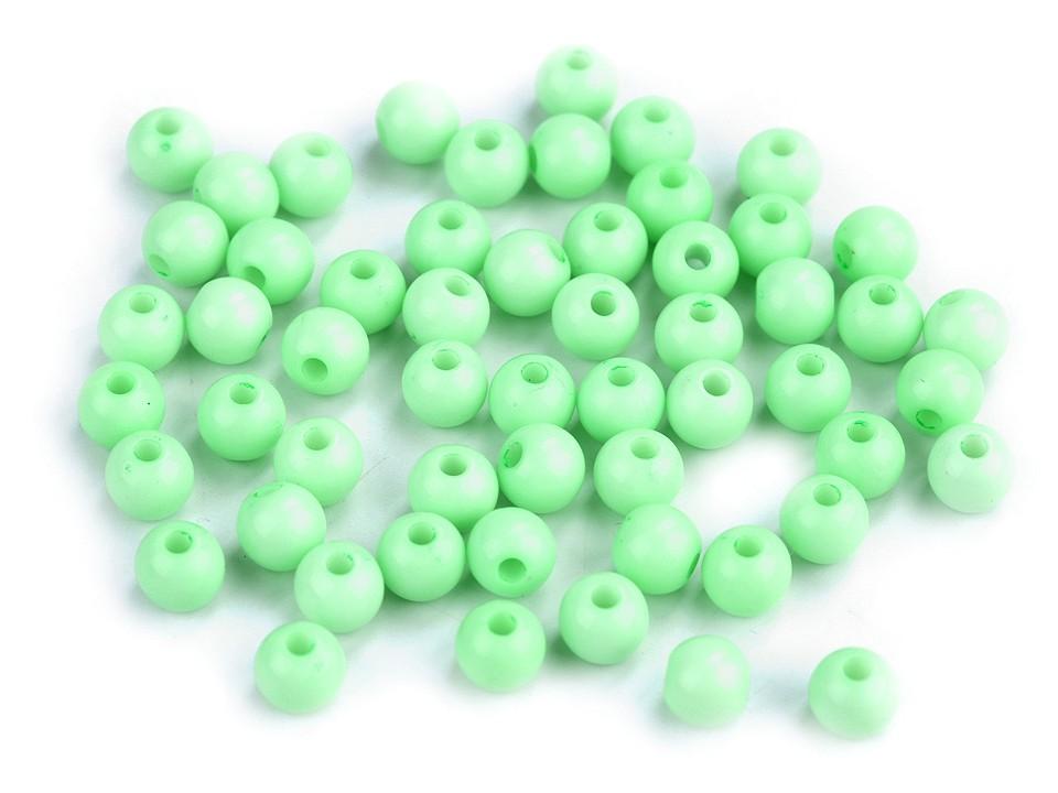 Textillux.sk - produkt Plastové korálky Color Ø6 mm - 6 (S028) zelená past.sv.