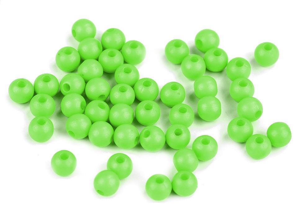 Textillux.sk - produkt Plastové korálky Color Ø6 mm - 7 (S029) zelená sv.