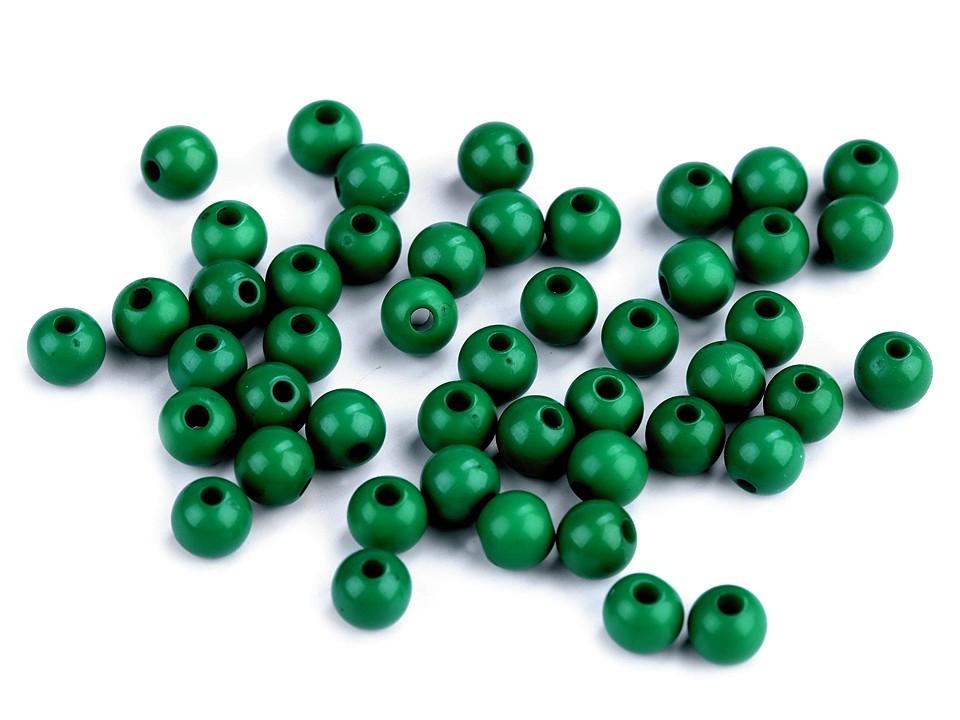 Textillux.sk - produkt Plastové korálky Color Ø6 mm - 8 (S033) zelená jedla