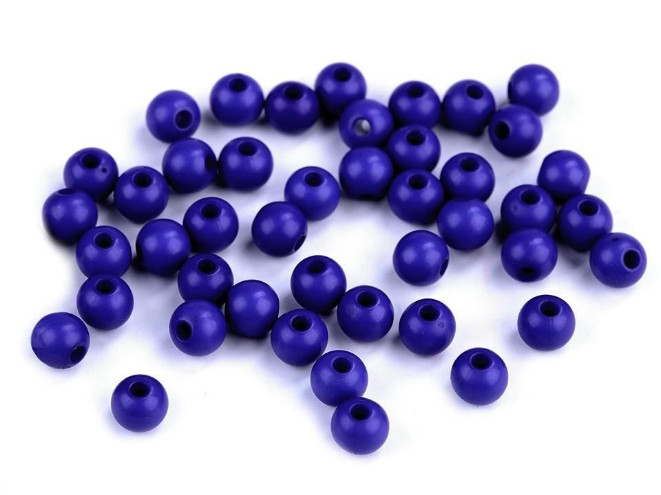 Textillux.sk - produkt Plastové korálky Color Ø6 mm - 10 (S014) modrá královská