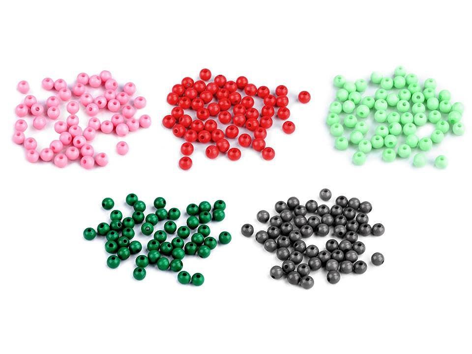 Textillux.sk - produkt Plastové korálky Color Ø6 mm