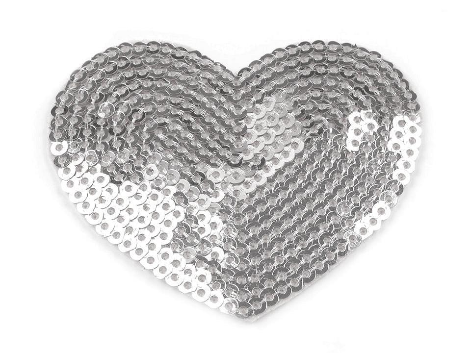 Textillux.sk - produkt Nažehlovačka srdce s flitrami