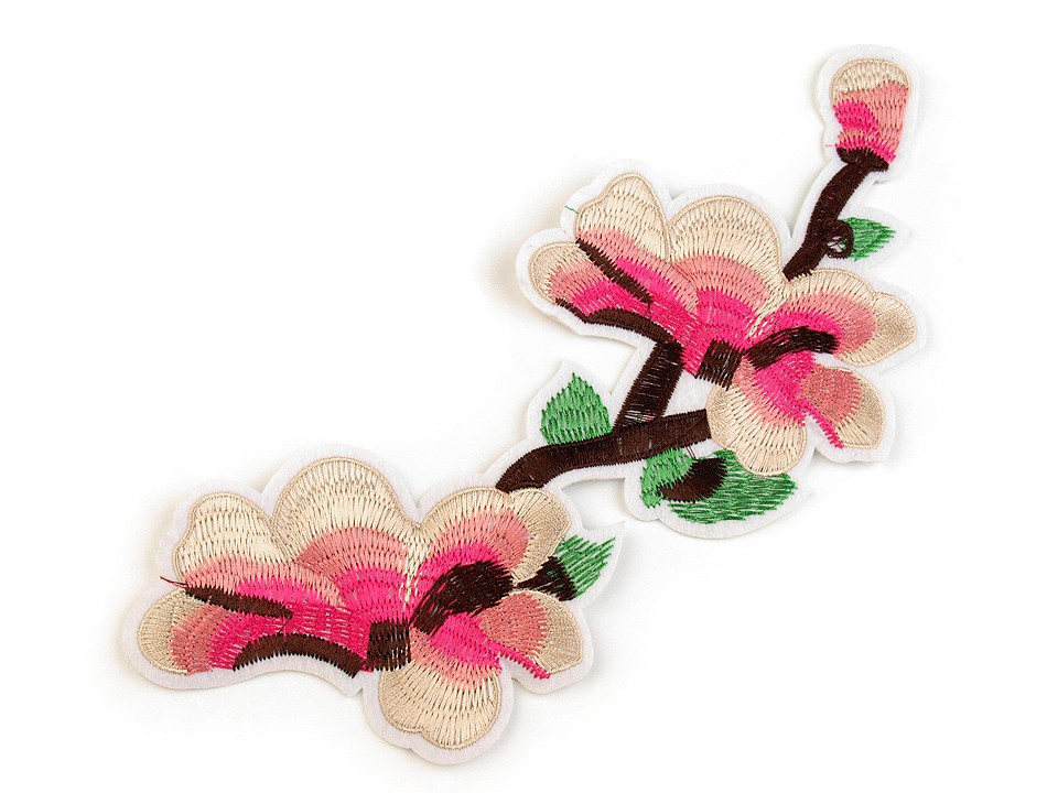 Textillux.sk - produkt Nažehlovačka na rifle kvety / ruže