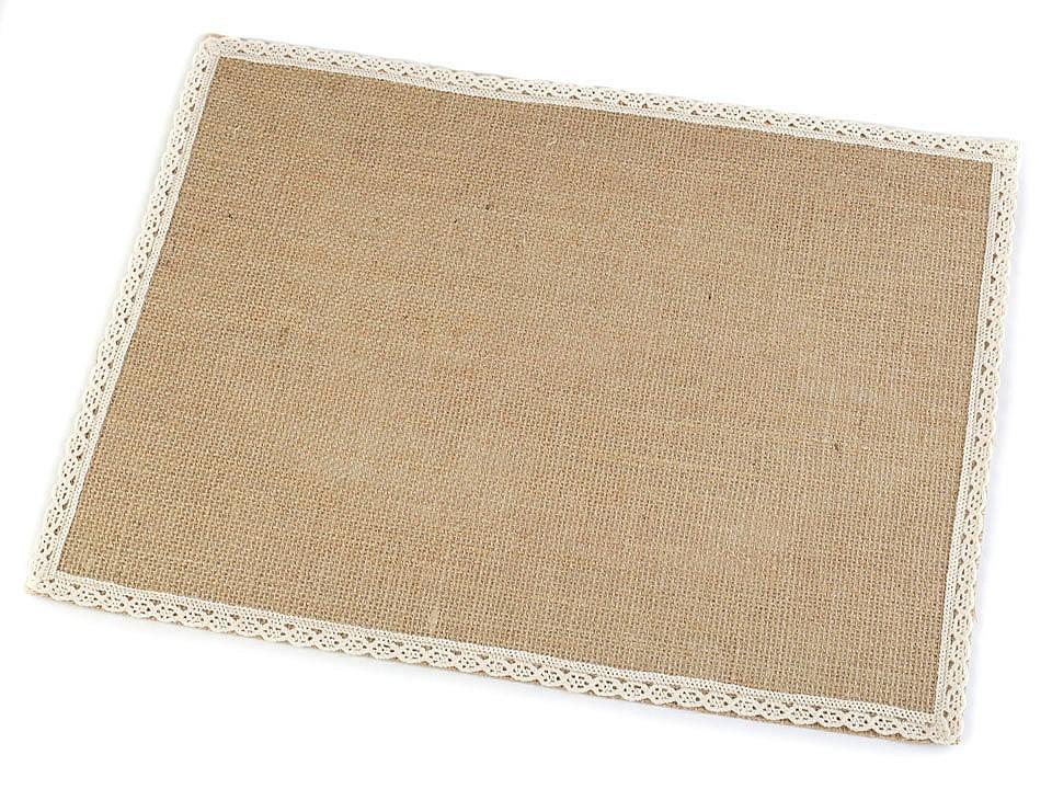 Textillux.sk - produkt Jutové prestieranie s čipkou 30x40 cm