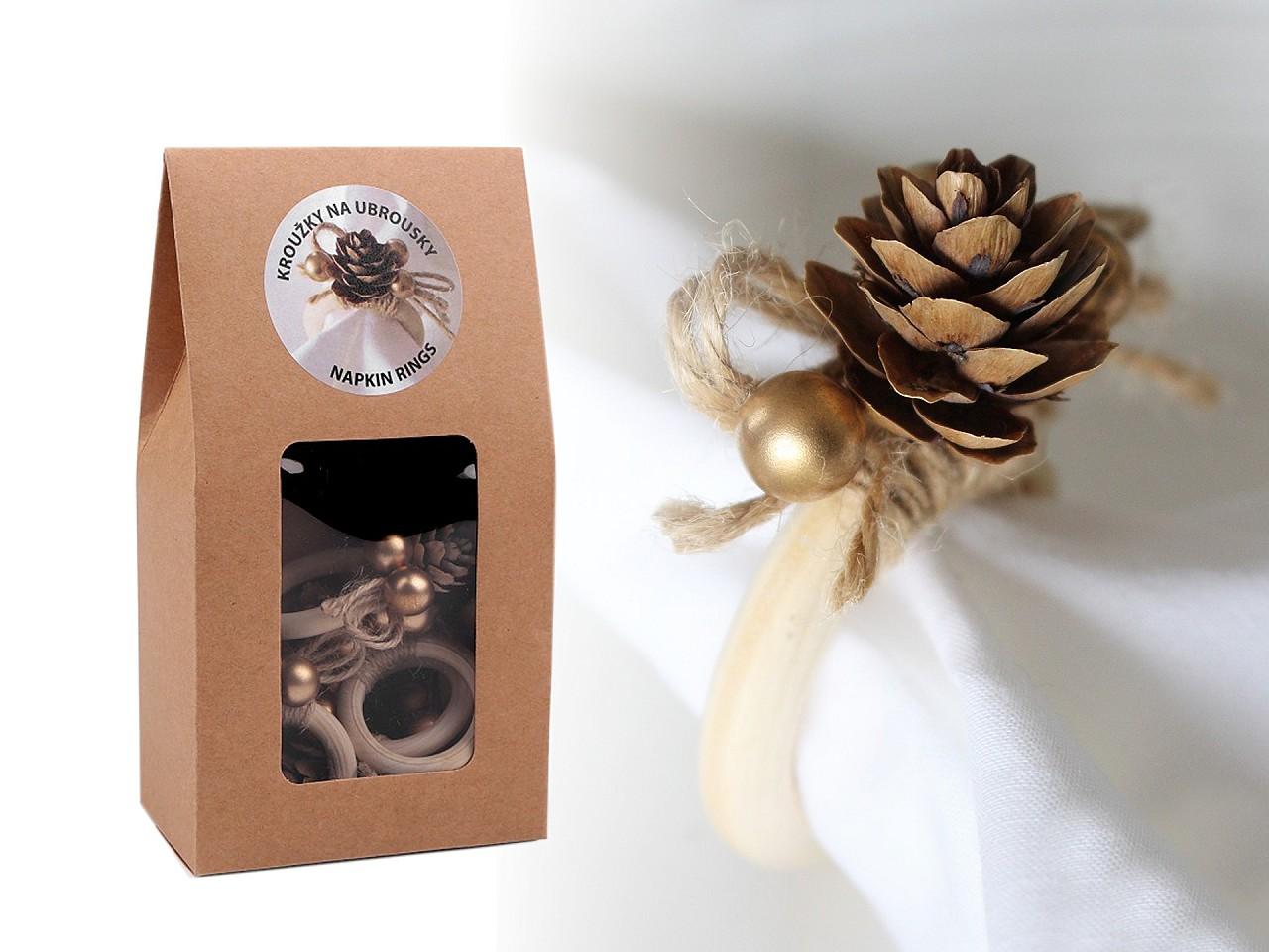 Textillux.sk - produkt Vianočný krúžok na obrúsky - sada 6 ks