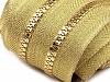 Zip kostěný 5 mm metráž zlato a stříbro