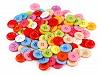 Knoflík barevný mix velikost 34