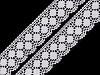 Bavlněná krajka šíře 43 mm paličkovaná