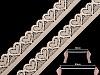 Elastická čipka šírka 17 mm