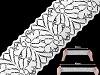 Elastická krajka / vsadka šíře 80 mm
