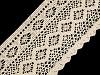 Bavlnená čipka paličkovaná šírka 12,5 cm