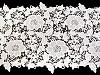 Vyšívaná čipka / štóla šírka 36 cm off white