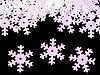 Cekiny Ø19 mm płatki śniegu