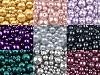 Szklane woskowane perły mix rozmiarów Ø4-12 mm