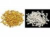 Műanyag teklagyöngyök / Glance rizsszemgyöngyök 3x6 mm