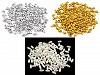 Plastikowe koraliki woskowane / perły Glance ryż 3x6 mm