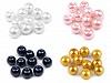 Szklane woskowane perły Ø8 mm