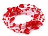 Perličky na silone Ø10mm dĺžka 130cm srdce