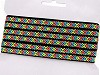 Prýmek / vzorovka indiánský motiv šíře 10 mm neon