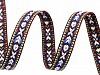 Borte / Webband mit indianer Motiv Breite 10 mm