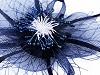 Brož / ozdoba do vlasů květ s peřím