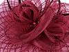 Fascinátor květ s peřím