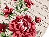Bavlněná látka / imitace lnu obšitá 35x275 cm