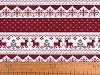 Vánoční látka - imitace lnu 45x45 cm