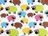 Bavlněná látka ovečka