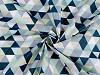 Bavlněná látka trojúhelníky