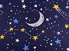 Bavlněná látka noční obloha