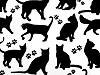 Bavlněná látka kočka