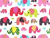 Bavlnená látka slon