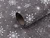 Imitacja juty szerokość 48 cm płatki śniegu