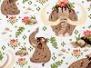Bavlněná látka mamut