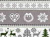 Vánoční bavlněná látka jelen