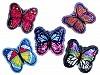 Aplikace motýl s oboustrannými flitry