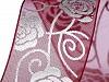 Wstążka monofilowa szerokość 27 mm róże