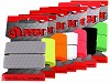 Gumipertli / gumiszalag kártyán szélessége 20 mm színes