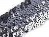 Flitrový prýmek šíře 45 mm elastický