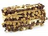 Prýmek šíře 30 mm s bambulkami ombré Ø13 mm