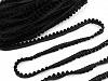 Prýmek / paspulka se sametovými perlami šíře 12 mm
