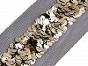 Flitrový prýmek / vsadka na monofilu šíře 60-70 mm
