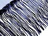 Prýmek monofilový s flitrovými třásněmi šíře 32 cm