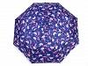 Dámský skládací vystřelovací deštník květy