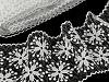Vyšívaná krajka / vsadka šíře 11 cm