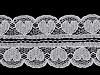 Silónová čipka / vsadka srdce šírka 30 mm