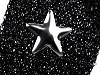 Lampas / prámik s kovovými hviezdami šírka 20 mm